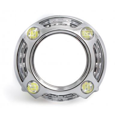 Бленда Optima BL-PS для линзы 3.0 дюйма круглая со сверх яркими ангельскими глазками CREE + режим притухания + режим поворотника арт: BL-PS