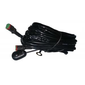Проводка для 2 фар, проводов 3м, нагрузка MAX 30А, с клавишей и предохранителем арт: NL-PR-11