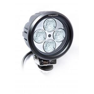 Фара светодиодная NANOLED 40W, SLIM круглая, 4 LED CREE X-ML, Euro D120*75 мм