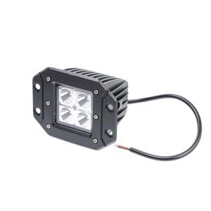 Фара светодиодная для врезки 40W, 4 LED CREE, в два ряда, широкий луч, корп ш*в*г 83*75*72 мм