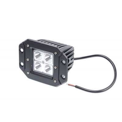 Фара светодиодная для врезки 40W, 4 LED CREE, в два ряда, узкий луч, корп ш*в*г 83*75*72 мм
