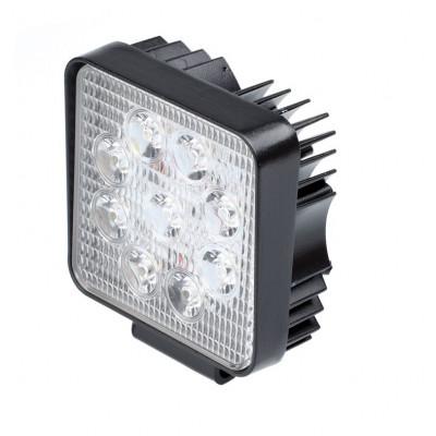 Фара светодиодная 27W, 9 LED, прожектор, 110*110*55мм