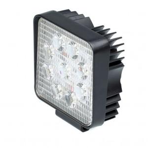 Фара светодиодная 27W, 9 LED, рабочий свет, 110*110*55мм