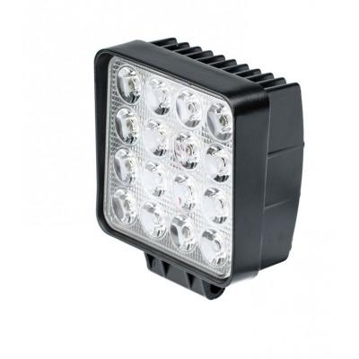 Фара светодиодная 48W, 16 LED, рабочий свет, 110*110*72мм