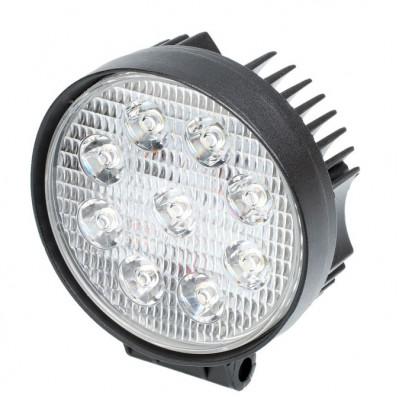Фара светодиодная 27W, 9 LED, прожектор, Круглая, D110*55мм