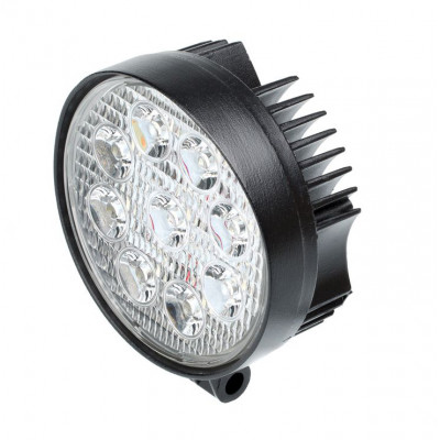Фара светодиодная 27W, 9 LED, рабочий свет Круглая