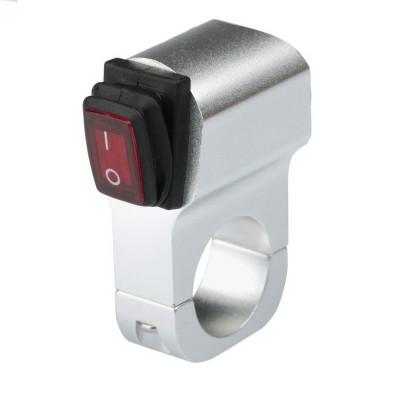 Выключатель влагозащищенный 2219S Серебристый IP-65 арт: NL-KN-2219S
