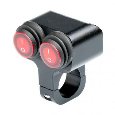 Выключатель влагозащищенный 2220BRB 2х кнопочный