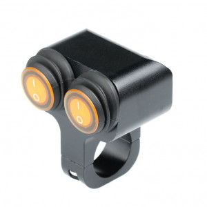 Выключатель влагозащищенный 2220BUB 2х кнопочный черный IP-65 арт: NL-KN-2220BUB