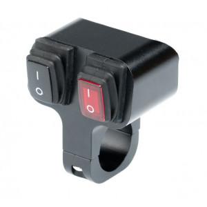 Выключатель влагозащищенный 2229BR 2х кнопочный арт: NL-KN-2229BR