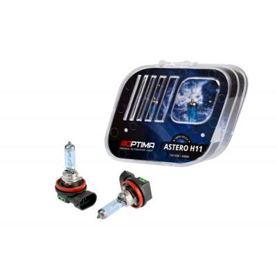 Галогенная лампа Optima Astero H11 +80% White 5000K, 12V, 55W арт: HASH11