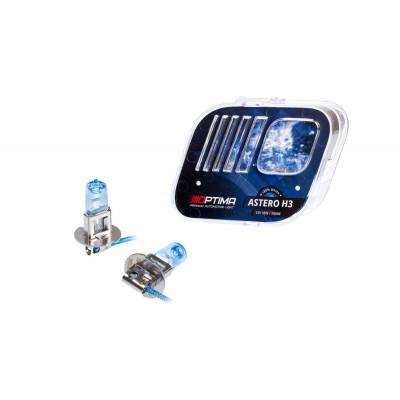 Галогенная лампа Optima Astero H3 +80% White 5000K, 12V, 55W арт: HASH3