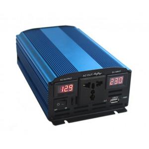 Инвертор автомобильный 12V - 220V 600W