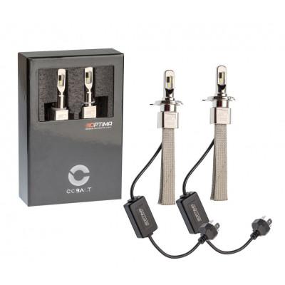 Автомобильная светодиодная лампа H4 Optima LED COBALT NEW, ZES 5530, 5500K, 12-24V, комплект 2 лампы