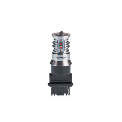 Светодиодная лампа 3156 Optima Premium CREE MINI, красный цвет, CAN, 12-24V арт: OP-3156-CAN-R-50W