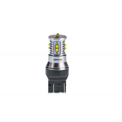 Светодиодная лампа 7443 (W21/5W) Optima Premium CREE MINI, CAN, 12-24V, двухконтактная арт: OP-7443-CAN-50W