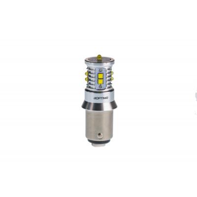 Светодиодная лампа P21/4W Optima Premium CREE MINI, CAN, 12-24V, двухконтактная арт: OP-P21/4W-CAN-50W