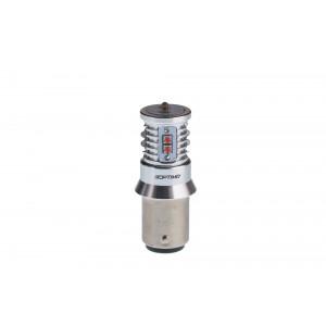 Светодиодная лампа P21/5W Optima Premium CREE MINI, красный цвет, CAN, 12-24V, двухконтактная арт: OP-P21/5W-CAN-R-50W