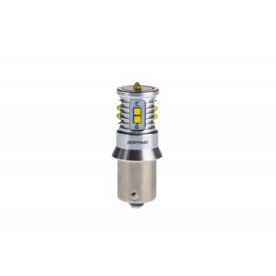 Светодиодная лампа P21W Optima Premium CREE MINI, CAN, 12-24V арт: OP-P21W-CAN-50W