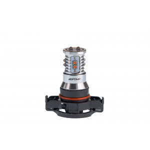 Светодиодная лампа PSY24W Optima Premium CREE MINI, желтого цвета в поворотник, CAN, 12-24V арт: OP-PSY24W-CAN-Y-50W