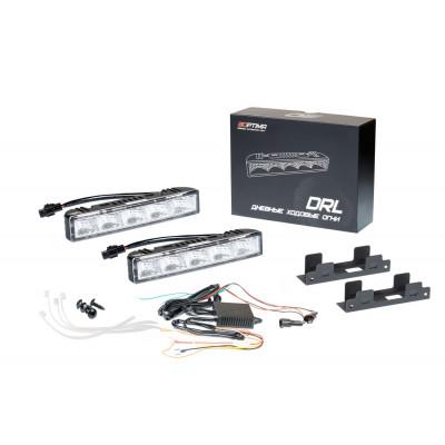 Дневные ходовые огни Optima Premium DRL-06, с функцией поворотника и стробоскопа, отражатель 90°