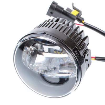 Светодиодная противотуманная фара OPTIMA LED FOG LIGHT 098 Nissan/Honda 90мм, 7W/0,4W, 5500K, 12V, комплект 2шт арт: LFL-098