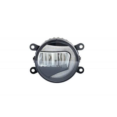 Светодиодная противотуманная фара OPTIMA LED FOG LIGHT 2857 с ДХО, диаметр 90мм, 2W/2W, 5500K, 9-18V, комплект 2шт арт: LFL-2857
