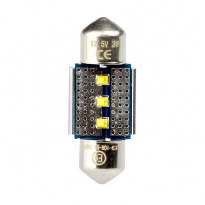 Светодиодная лампа Festoon 28mm Optima Premium, чип Philips, Canbus, white, (SV 7-8) с обманкой арт: OP-F-PH-CAN-31