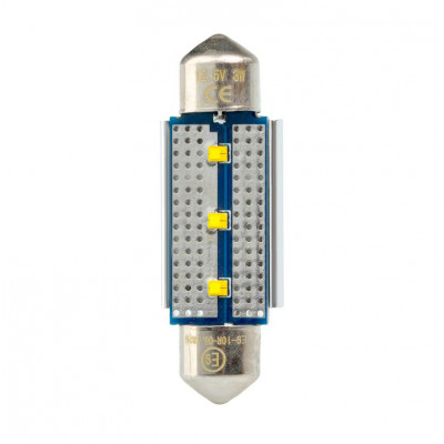 Светодиодная лампа Festoon 39mm Optima Premium, чип Philips, Canbus, white, (SV 8,5) с обманкой арт: OP-F-PH-CAN-39