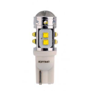 Светодиодная лампа W5W 50Ватт Optima Premium CREE MINI, CAN, 12-24V арт: OP-W5W-CAN-50W