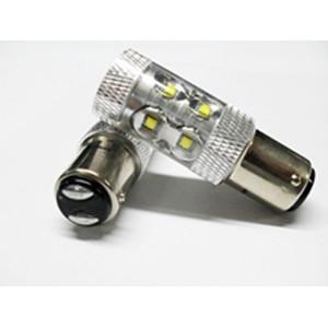 Светодиодная лампа P21/5W Optima Premium CREE*10LED*5W, 5100K, 50W, 12-24V, (BaY15d), двухконтактная, 1 шт.