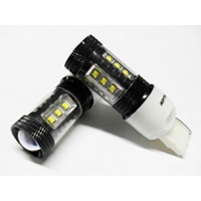 Светодиодная лампа 7440 (W21W) Optima Premium CREE 80W 12V (W3X16d) 1 шт. арт: OP-7440-80W