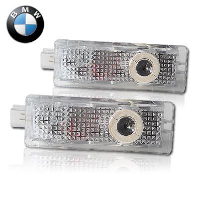 Подсветка двери светодиодная с логотипом BMW в штатное место комплект