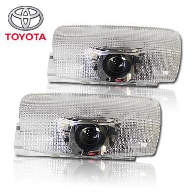 Подсветка двери светодиодная с логотипом TOYOTA в штатное место комплект арт: OP-LOGO-06