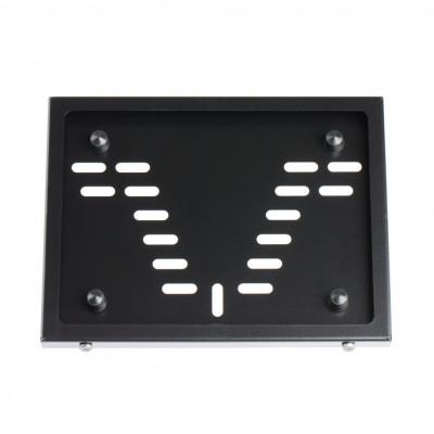 Рамка номерного знака МОТО Новый ГОСТ из оцинкованной стали, ЧЕРНАЯ арт: RN-05B-NEW