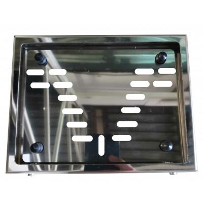 Рамка номерного знака МОТО Новый ГОСТ из нержавеющей стали (марка стали 430) арт: RN-05M-NEW