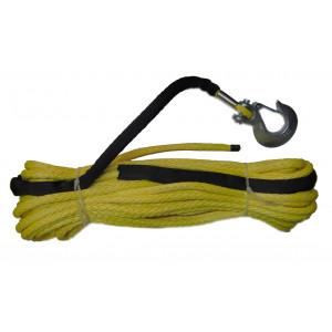 Трос для лебедки синтетический OffRoadTeam Basic 12мм х 25м, с крюком