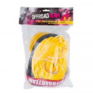 Трос для лебедки синтетический OffRoadTeam Basic 5,5мм х 15м, с крюком