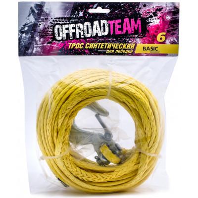 Трос синтетический OffRoadTeam Basic 6мм х 15м, с крюком арт: ORT-BASIC-6/15