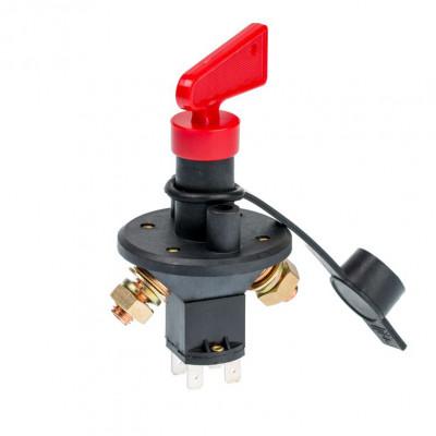 """Выключатель Массы типа """"Ключ"""" 200А, 12-24V, выходные контакты под углом арт: ORT-BIS-2"""