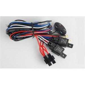 Проводка для 2 фар, раздельное включение, длина проводов 2,5м, 12V, нагрузка MAX 30А, два реле