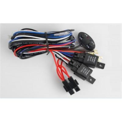 Проводка для 2 фар, раздельное включение, длина проводов 2,5м, 12V, нагрузка MAX 30А, два реле арт: NL-PR-04